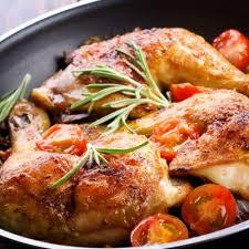 Chicken Main Dish - main courses italian roast chicken with herbs and cherry