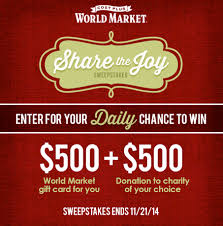 share the joy twitter party with cost plus world market