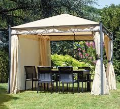 giardini con gazebo gazebo da giardino carnival 33 in metallo telo beige con