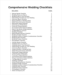 wedding checklist and planner wedding planner checklist 12 free word pdf psd documents