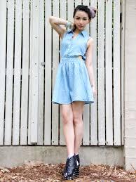 post polka dot in the denim dress u2013 the wonderful world of