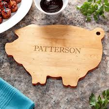 cutting board personalized family name personalized pig cutting board personalized planet