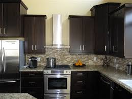 Espresso Cabinets With Black Appliances Cabinets Wonderful Plans How To Paint Kitchen Cabinets Design