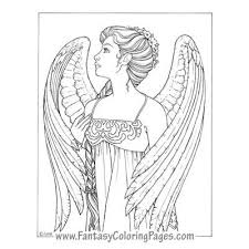 coloring page angel coloring pages for adults coloring page and