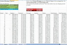 Excel Payment Calculator Template Mortgage Acceleration Calculator Excel Template