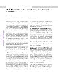 effect of fungicides on seed mycoflora and seed germination of