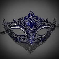 silver masquerade masks for women new women metal mask venetian style navy blue colorful