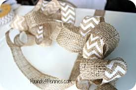 ribbon with wire how to make a burlap wreath with wire