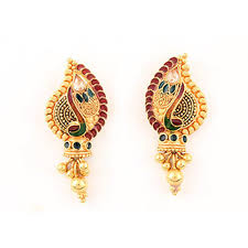 earrings gold gold earrings at rs 18000 pair gold earrings id 15556589612