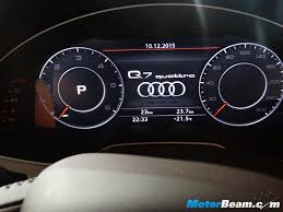 audi dashboard 2016 audi q7 launched in india priced from rs 72 lakhs live