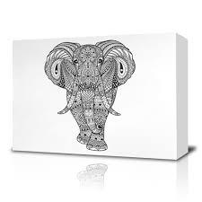 elephant coloring canvas