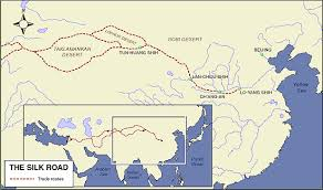 map of the road map of the silk road the of asia history and maps