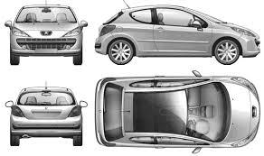 peugeot 2 door sports car car blueprints чертежи автомобилей peugeot