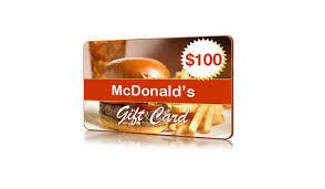 mcdonalds gift card discount free mcdonald s gift card