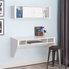 Computer Desk In White by Prepac Designer Floating Desk In White Beyond Stores