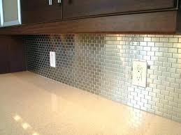 stainless steel tiles for kitchen backsplash silver backsplash kitchen spred co