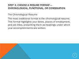 Sample Chronological Resume by Finance U0026 Business Technology Mrs Flowers Ppt Download