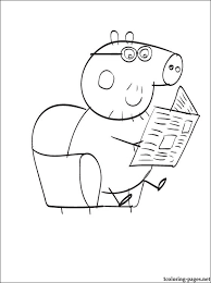 peppa u0027s father coloring coloring pages