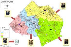 Ga Counties Map District Map Jackson County Ga