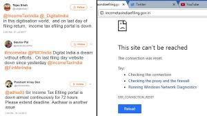 snag hits income tax e filing website twitteratti questions