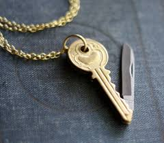 key shaped necklace images Key shaped brass pocket knife necklace on the hunt jpg