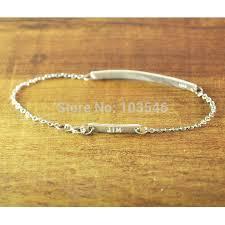 Customized Name Bracelets Aliexpress Com Buy Personalized Bar Bracelet Hand Stamped