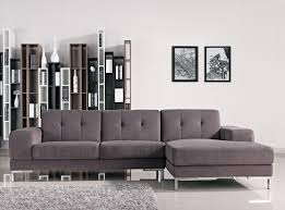 Gray Couch Decorating Ideas by Modern Small Sectional Couch With Chaise On Sleek Floor Feat