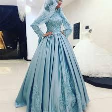 brautkleider t rkisch hellblau muslim wedding dress langarm türkisch islamische
