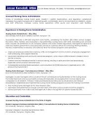 System Administrator Resume Example by Free Nursing Home Administrator Resume Example