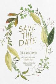 wedding invitations adelaide green leaf water colour wedding invitation brides of adelaide