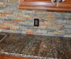slate backsplash in kitchen slate backsplash cabinet backsplash