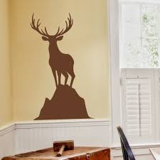elk deer vinyl wall decal caribou standing on a rock harvest wall elk deer vinyl wall decal caribou standing on a rock harvest wall sticker art moose home decoration wall decor mural 64