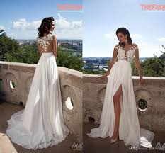a line wedding dress discount a line chiffon wedding dresses 2016 sheer