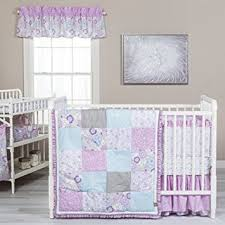 amazon com trend lab grace 5 piece crib bedding set purple
