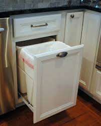 built in trash can cabinet built in trash can decoration pull out kitchen trash can under