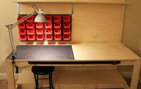 Workbench Lighting Build A Makerspace Workbench For Under 100 W Step By Step Plans