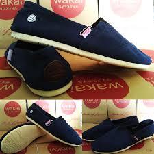 Sepatu Wakai sepatu wakai slip on japan navy maroon clasic unisex premium quality