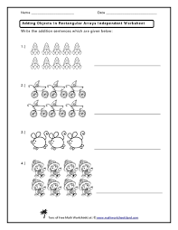 addition addition arrays worksheets free math worksheets for