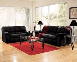 home design red microfiber convertible living room set vegas
