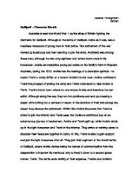 character sketch essay gallipoli character sketch gcse english