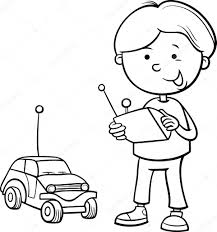 cartoon cars coloring pages boy and remote car coloring page u2014 stock vector izakowski 55962859