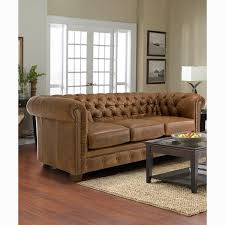 hancock tufted distressed saddle brown italian chesterfield