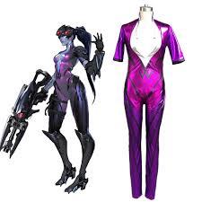 Catsuit Halloween Costumes Aliexpress Buy Ow Game Amelie Lacroix Widowmaker Cosplay