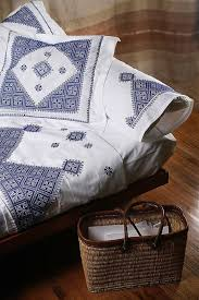 Moroccan Bed Linen - fez embroidered bed linens from morocco embroidered bedding bed