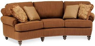 Curved Front Sofa by Curved Conversational Sofa With Nailhead Trim By Smith Brothers