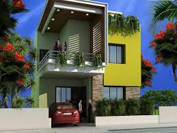 green color of wall exterior modern house paint decorating with