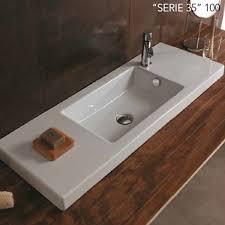semi recessed bathroom sinks tecla modern bathroom sinks