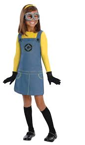 kid halloween costumes 2014 despicable me 2 female minion kids costume buycostumes com