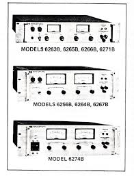 operating u0026 service manual for hp heavy duty power supplies 6256b
