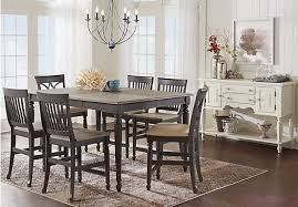 ocean grove gray 5 pc counter height dining room traditional